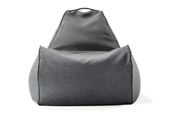 indoor-bean-bag-chair-lujo-modern-gray - Win A Modern Bean Bag Chair From Lujo! - Design Milk