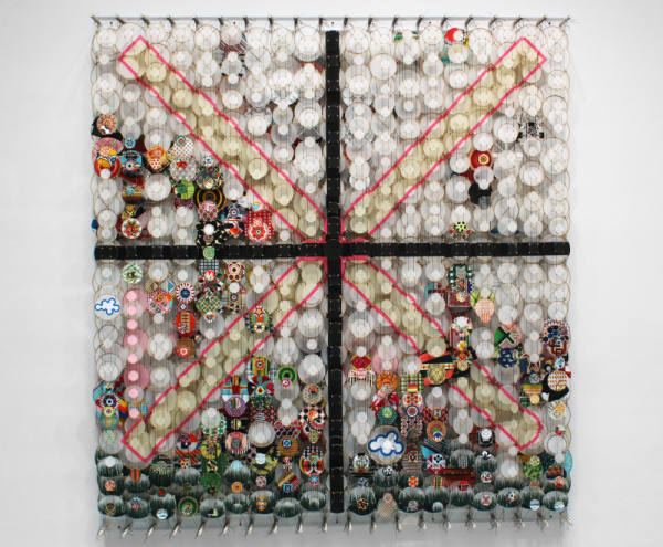 """Brief Flashes of Light. Focus. And Impossible Goals,  2014.  78"""" x 72"""" x 8"""""""