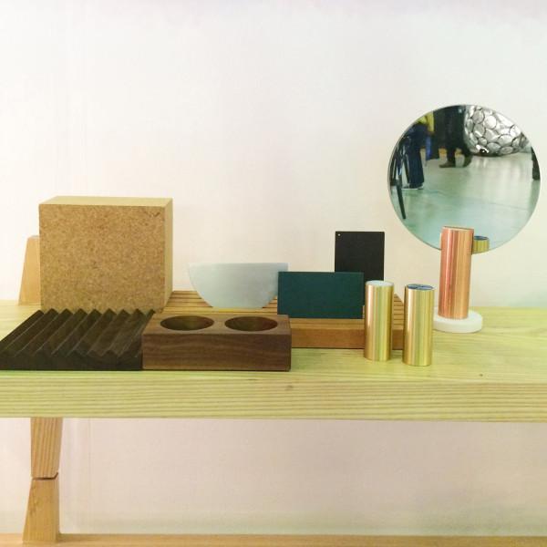 Mirror, salt and pepper shakers and desk organizer by Ladies & Gentlemen Studio