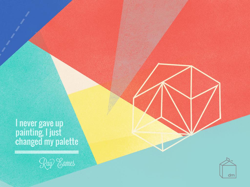 ray eames inspired desktop wallpaper design designmilk
