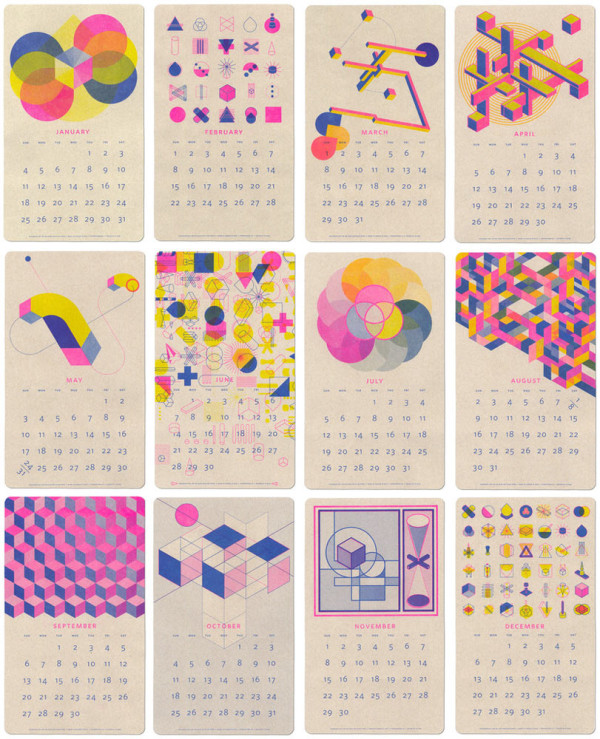 Calendar Design On : Modern calendars for design milk