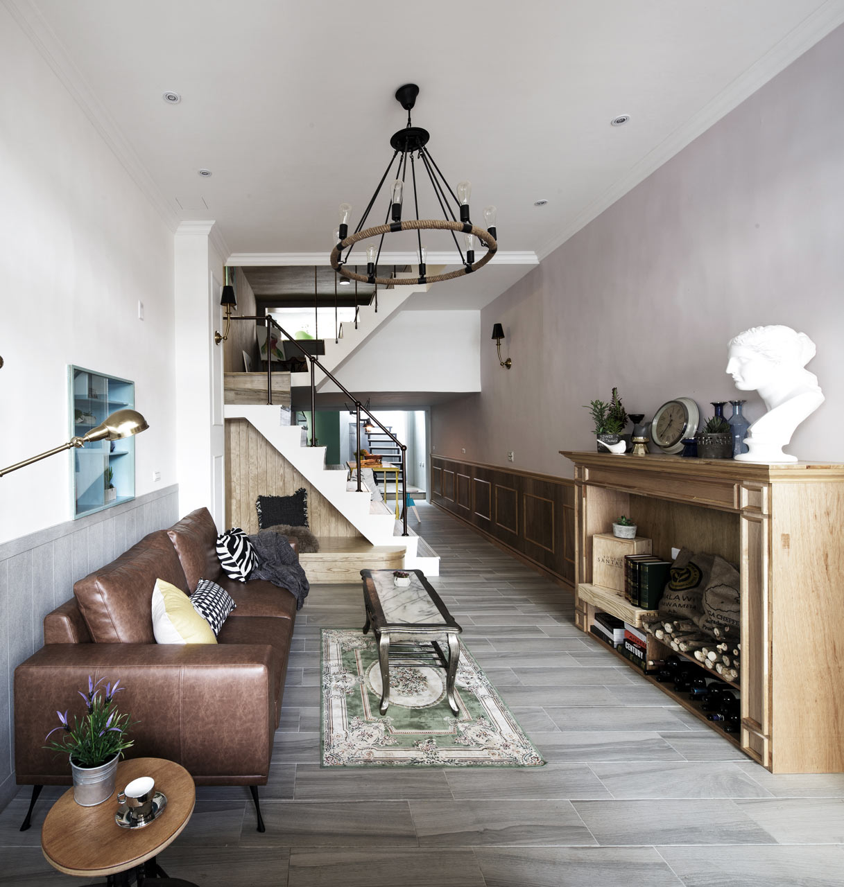 An Historic House in Taiwan with a Central Sunroom