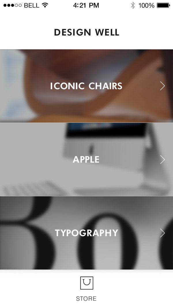 DesignWell_UI_Home