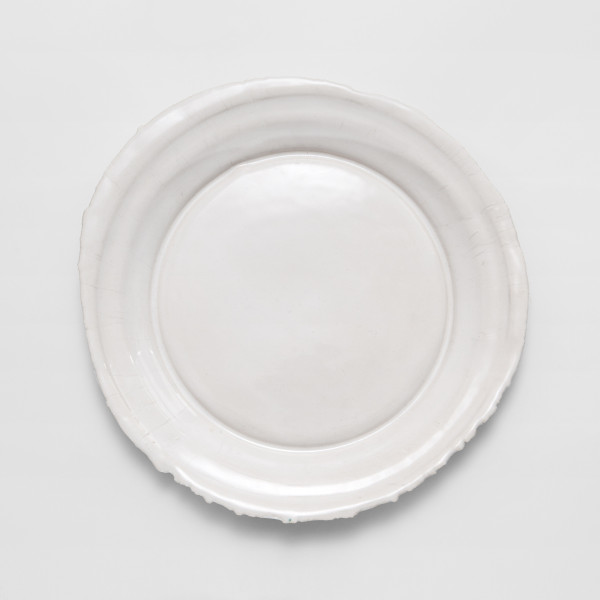 Rough Edge Plate (Dinner Plate) \\\ Handmade ceramics