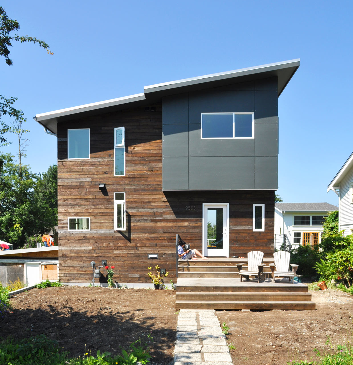 A home in seattle for a family to share design milk for Reclaimed fir flooring seattle