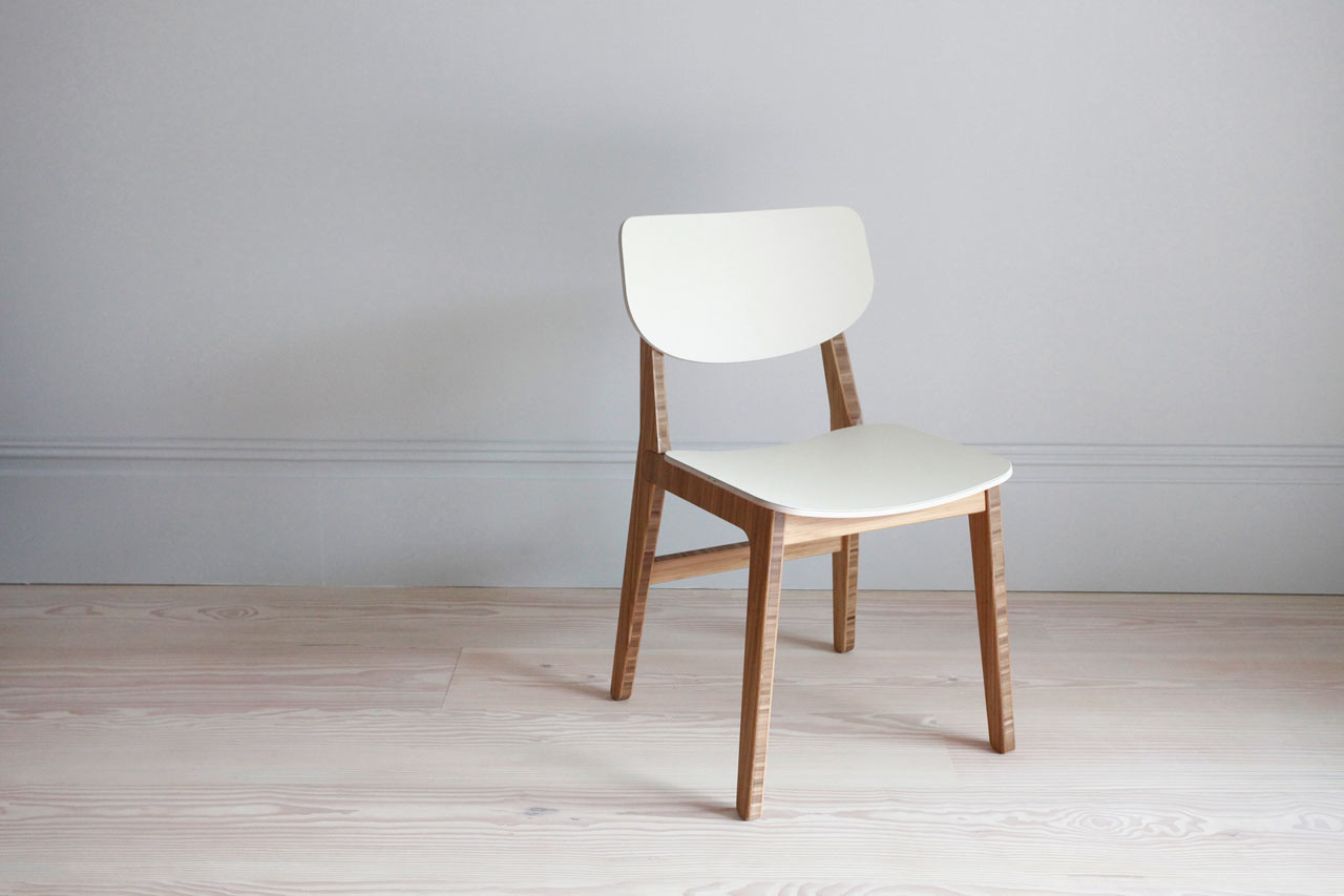 Contemporary dining chair made from renewable materials for Dining designer chairs