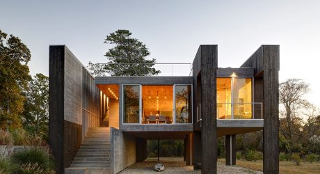A House Between Freshwater Wetlands and a Tidal Estuary