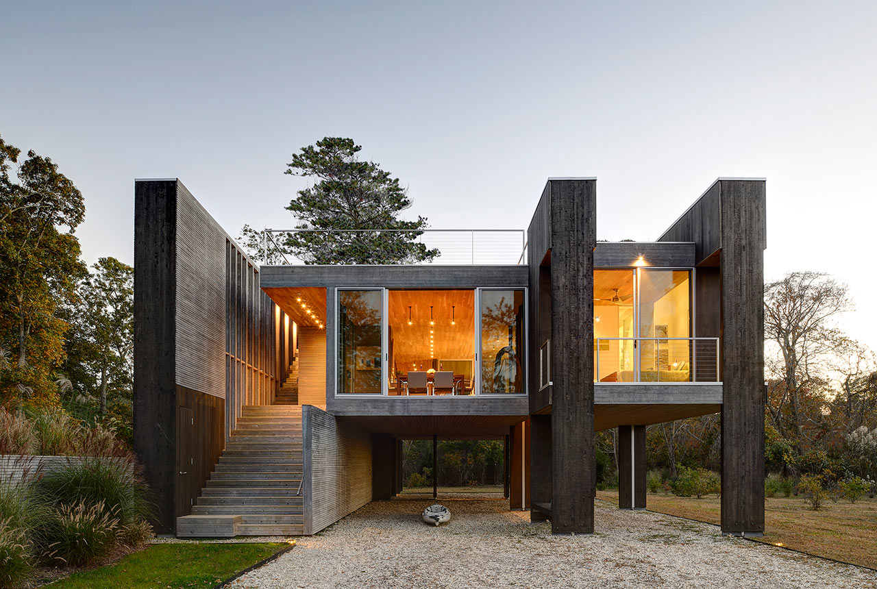 northwest modern home architecture. A House Between Freshwater Wetlands And Tidal Estuary Northwest Modern Home Architecture H