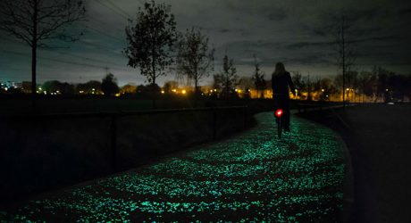 The World's First Glow-In-The-Dark Bike Path Inspired by Van Gogh