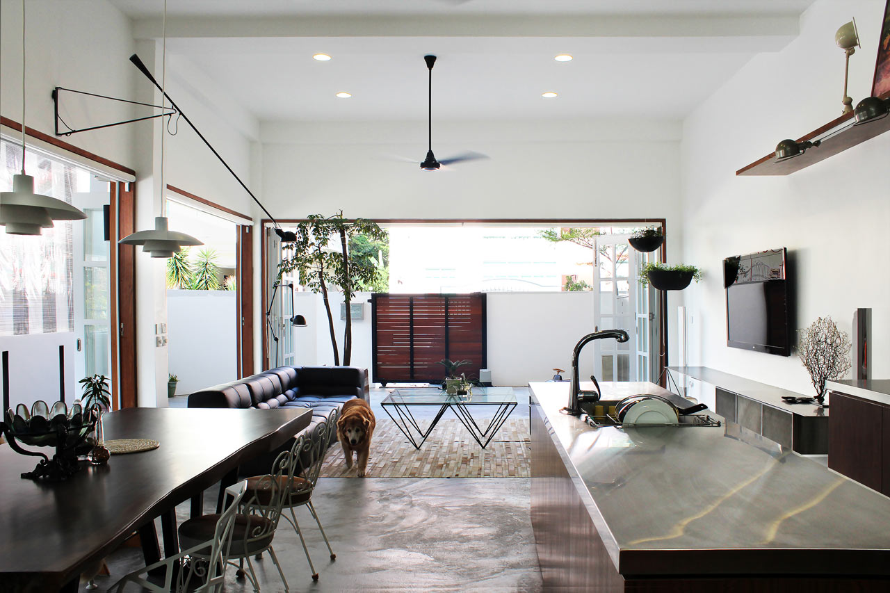 lighting ideas for rooms with high ceilings - A 60 Year Old Terrace House Gets a Renovation Design Milk