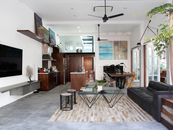 Living Room Interior Design For Terrace House a 60-year old terrace house gets a renovation - design milk