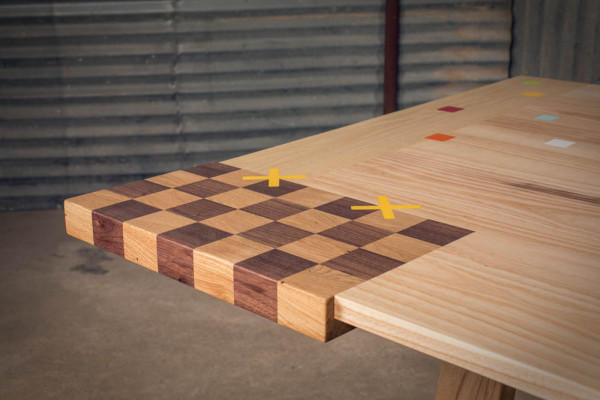 alon dodo wood furniture mixed table detail