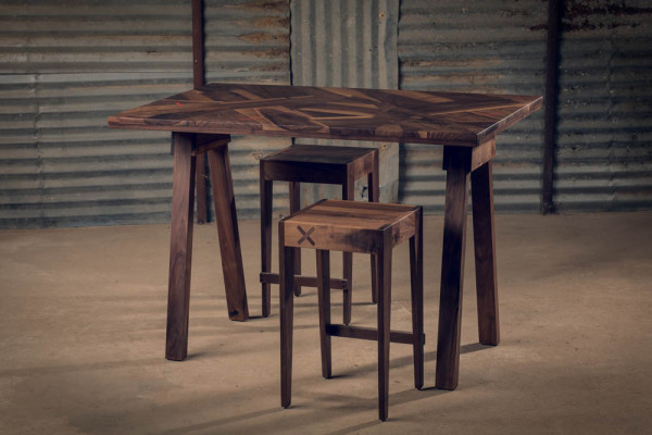 alon dodo wood furniture table and stools