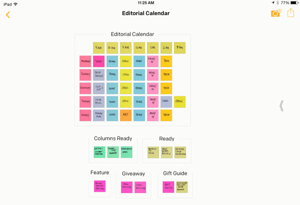 Editorial calendar with new posts imported into groups