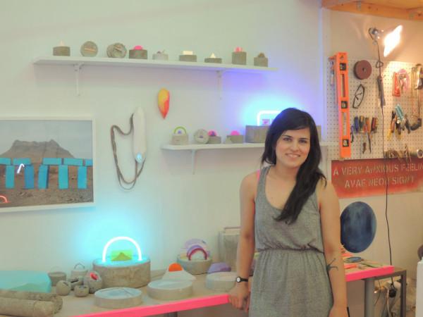 Esther Ruiz in her studio