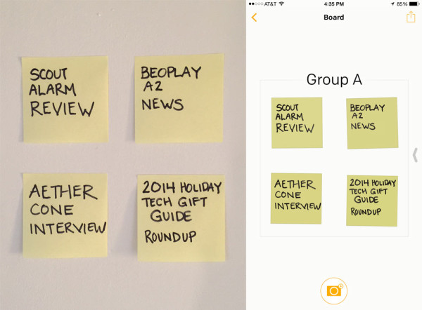 Analog vs digital Post-it Notes