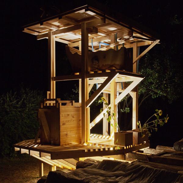 hello wood- shower power