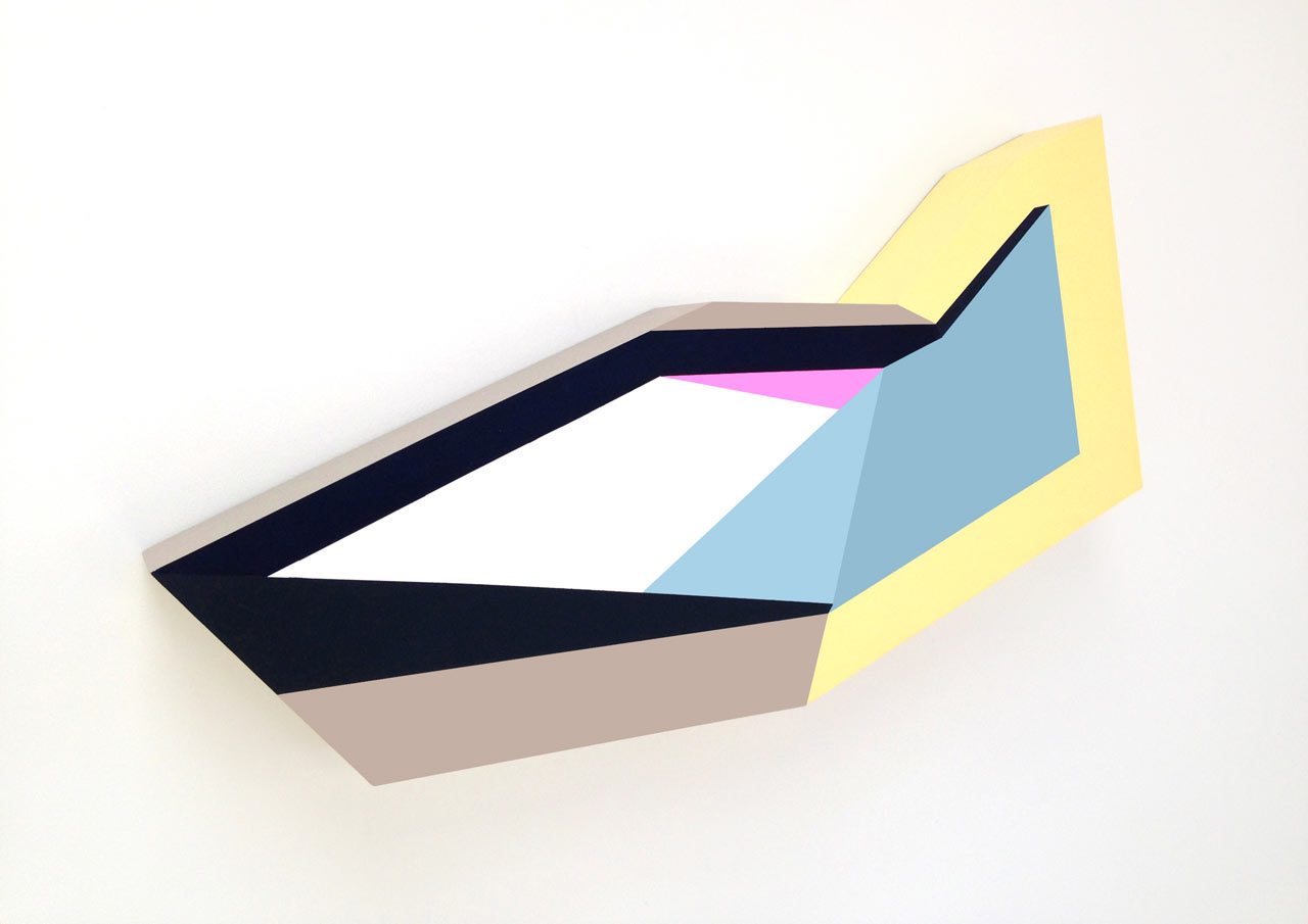 Geometric Sculptural Paintings by Zin Helena Song