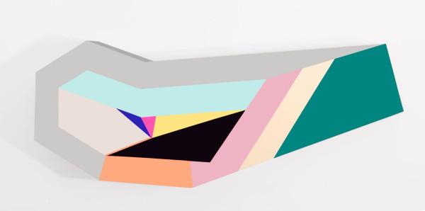 zin-helena-song-Polygon-in-space-17-Acrylic-on-wood-2014