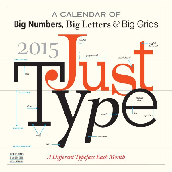 Calendar For Typography Nerds : Modern calendars for design milk
