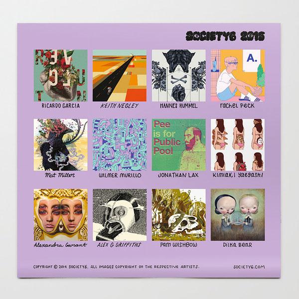 Calendar Modern Art : Modern calendars for design milk