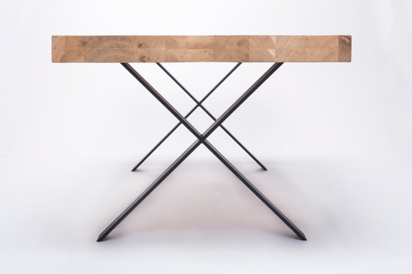 Wood & Steel Tables by 5mm.studio - Design Milk