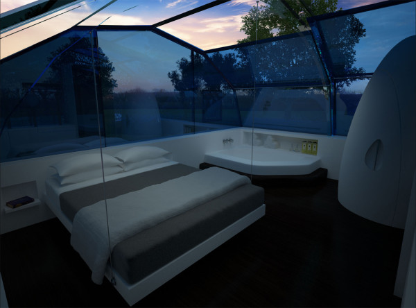9b Photon Space bedroom in the morning  The Photon Space Libido Boosting  Architecture Design Milk. Space Bedroom