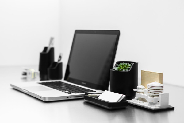 Base a collection of modern office objects design milk for Modern office decor accessories
