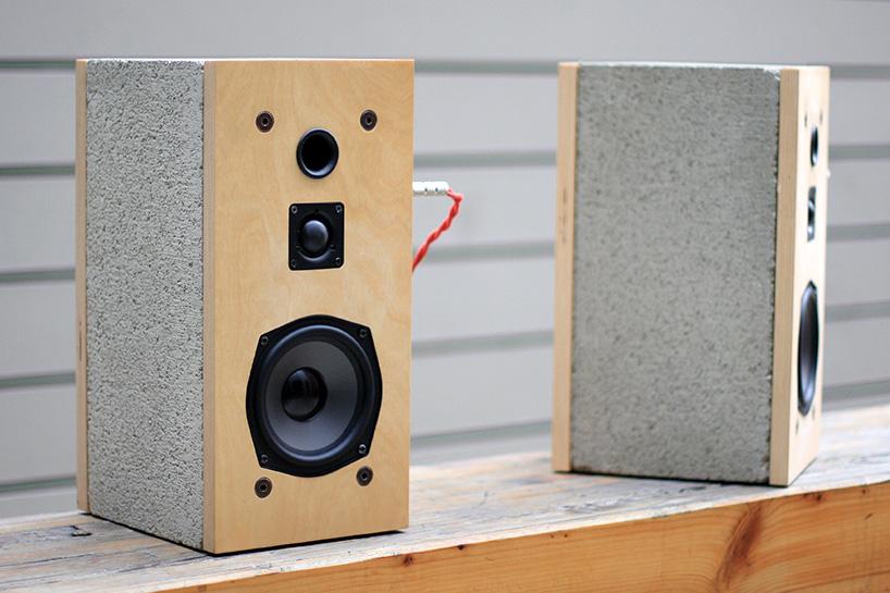 really solid sound: daniel ballou's cinder speakers - design milk