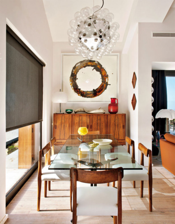 photo by montse garriga - Modern Contemporary Dining Room Chandeliers