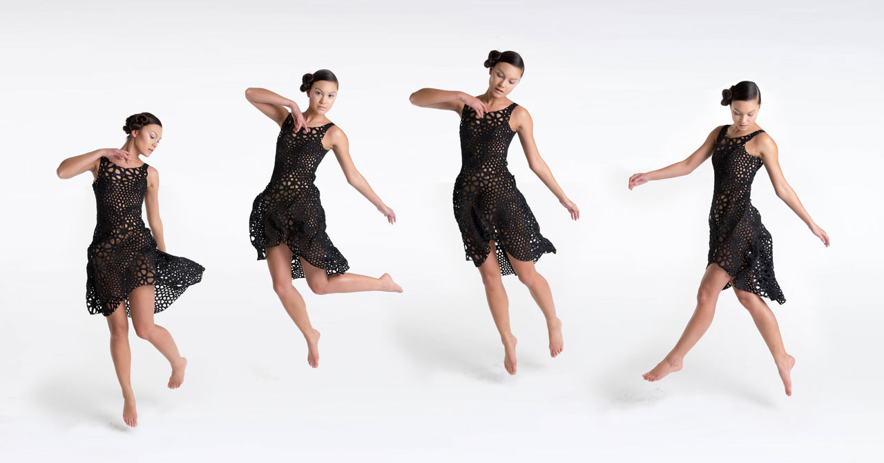A Movable, 4D Printed Dress Made with Kinematics