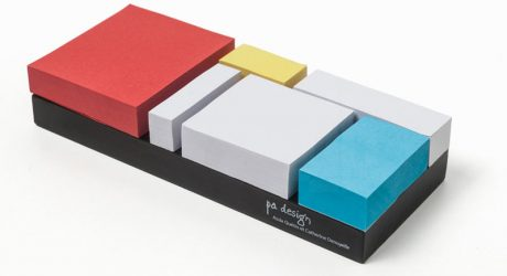 Mondrian-Inspired Sticky Notes from PA Design