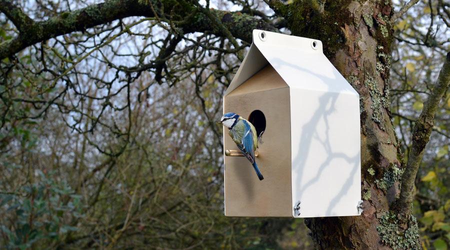A Milk Carton Inspired Birdhouse by Jam Furniture - Design Milk