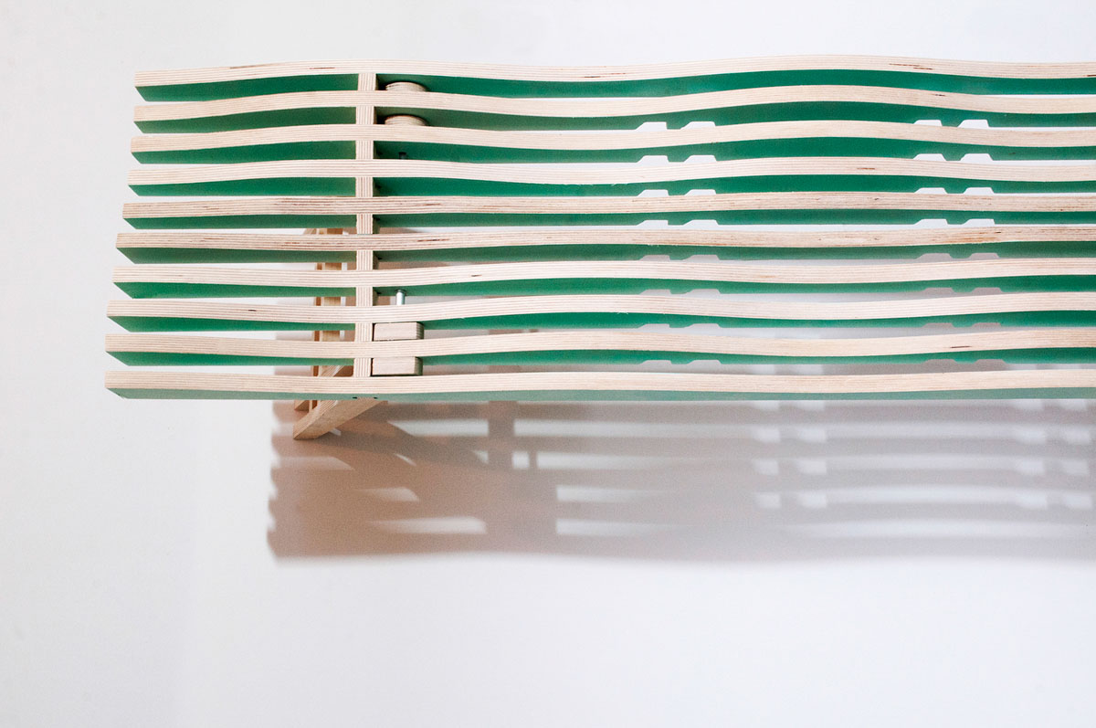 A Curvy Bench That's Easily Transportable