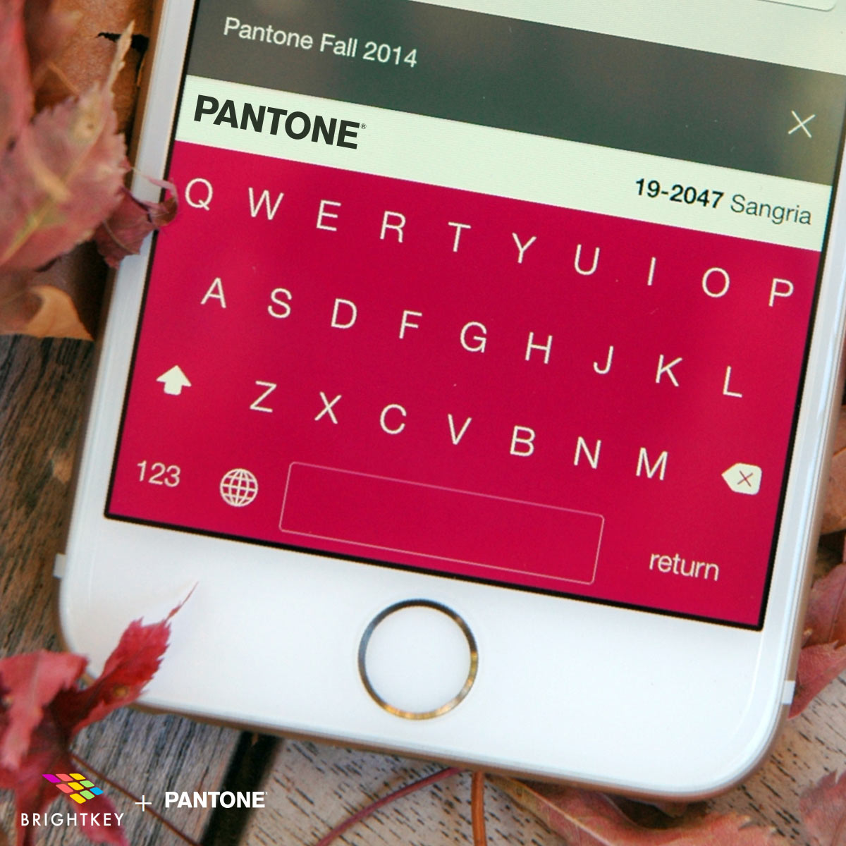 Brightkey + Pantone Bring Colorful Keyboards to iOS Devices