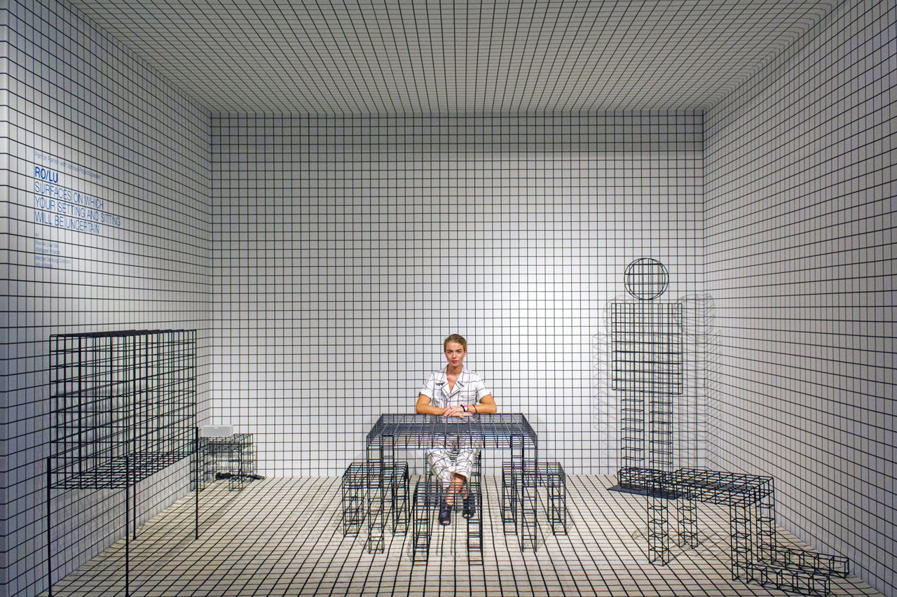 This gridded installation at design miami stole the show for Grid room