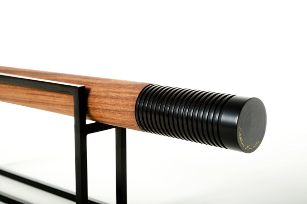 Croquant - American walnut wood and painted brass