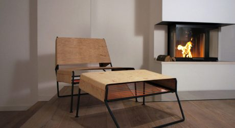 Sibirjak: A Modern Lounge Chair Made of Birchbark