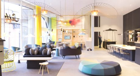 Suite Novotel: A Whimsical Hotel Lounge by Constance Guisset