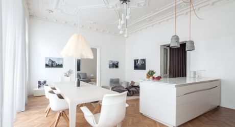 Classic Viennese Apartment Given a Modern Renovation