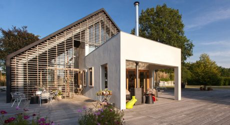 A Modern Farmhouse in the Country in the Northern Part of The Netherlands
