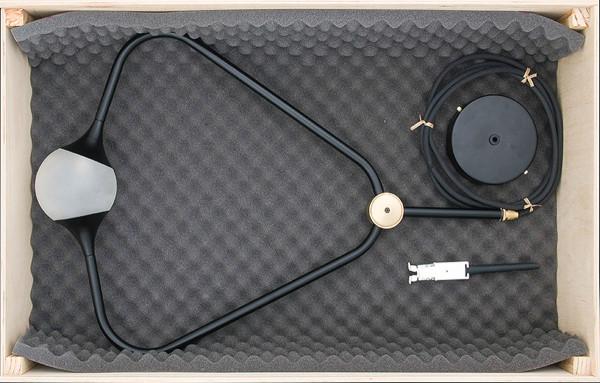 medal black in wooden box