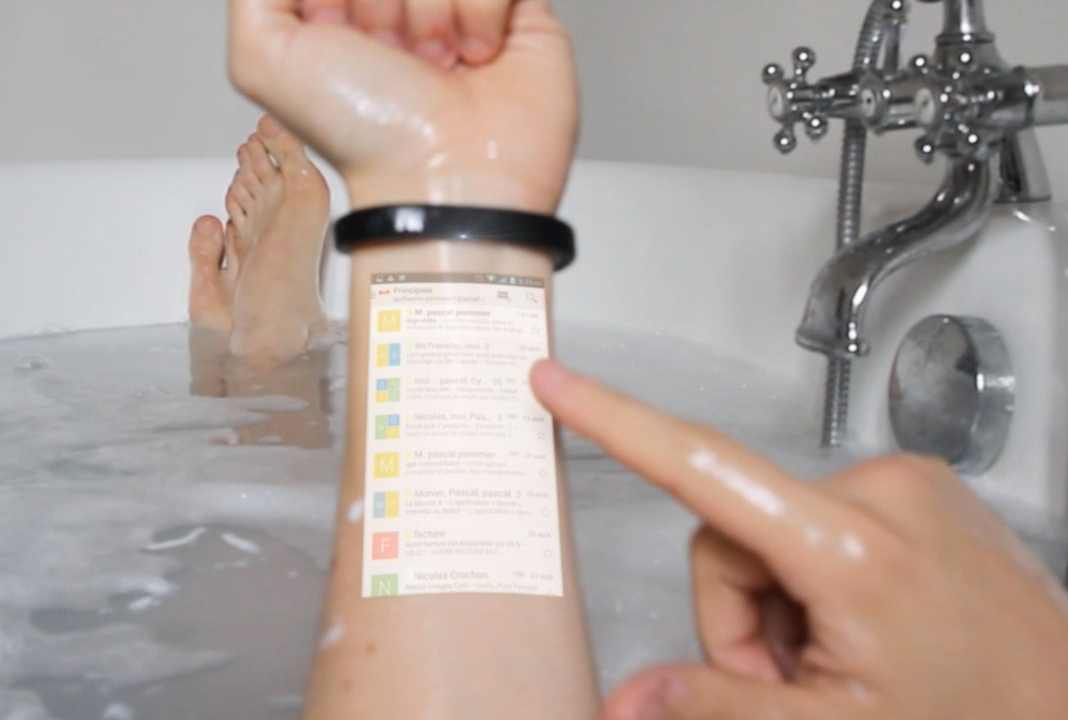 Cicret Bracelet Turns Skin Into a Touchscreen Display