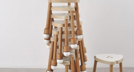 Crick: A Stackable Stool by Pedro Feduchi