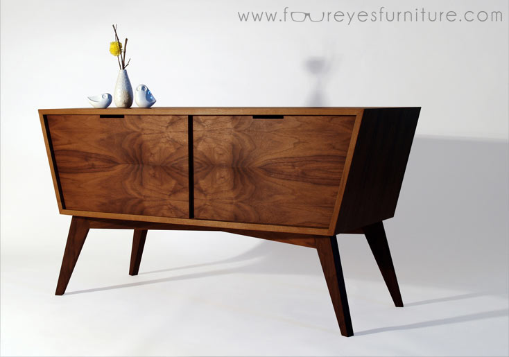 Designing building a mid century inspired console for Bad design furniture
