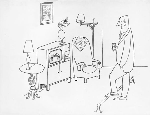 The Home Sports Bar  \\\ Snark / Art Resources, NY / Steinberg, Saul (1914-1999) © ARS, NY