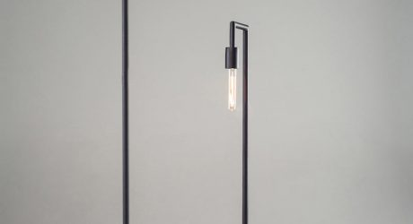 Minimalist Floor Lamps Made of Wood and Metal