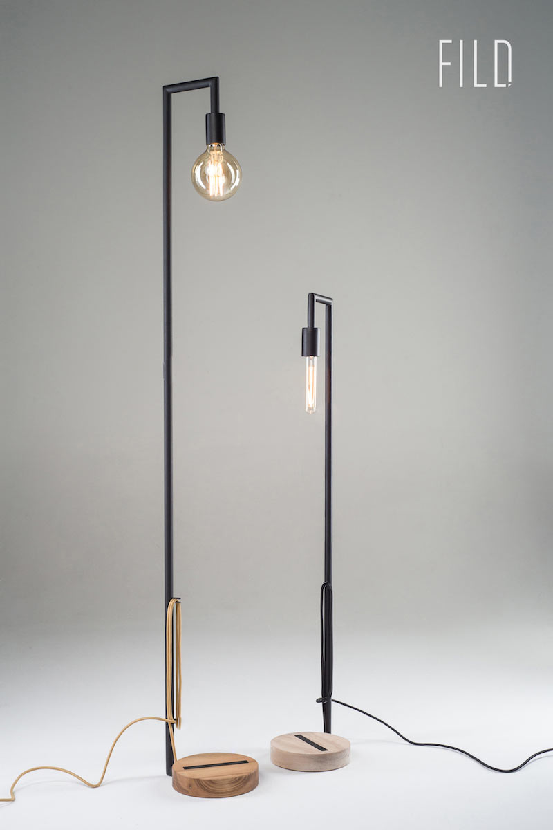 Minimalist floor lamps made of wood and metal design milk for Make wooden floor lamp