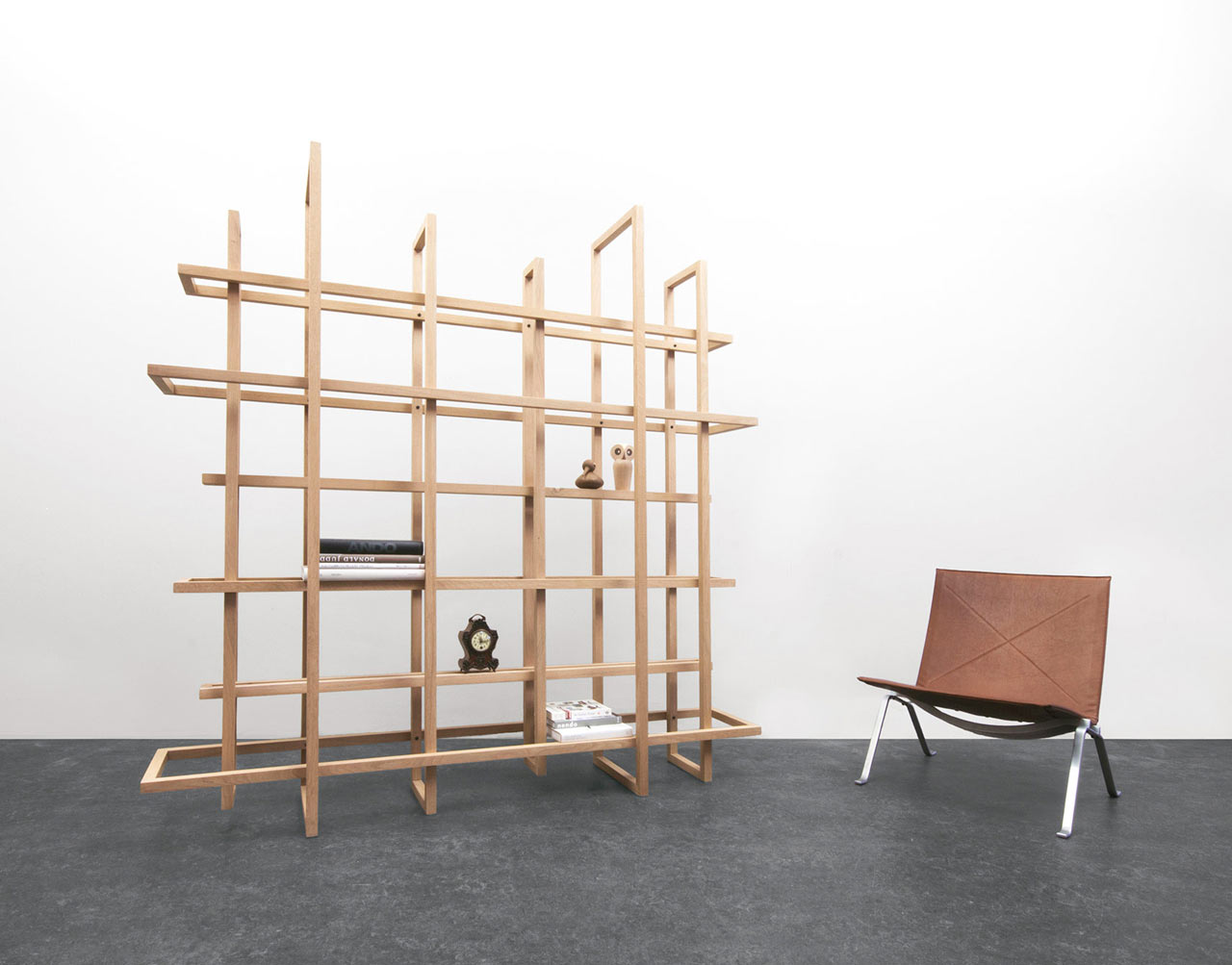 Frames 2.0: A Bookcase or a Room Divider