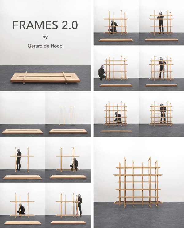Frames 2.0: A Bookcase or a Room Divider - Design Milk